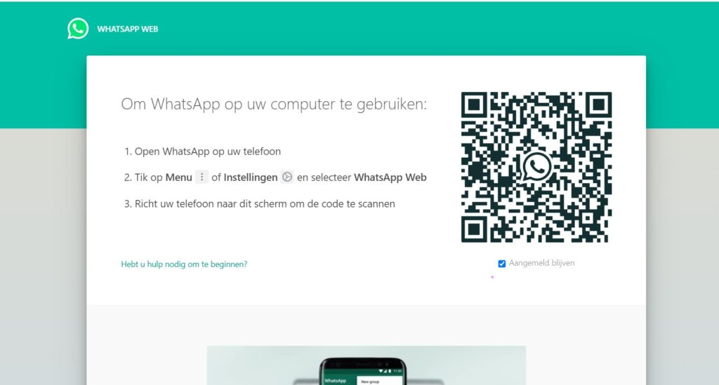 qr code voor whatsapp