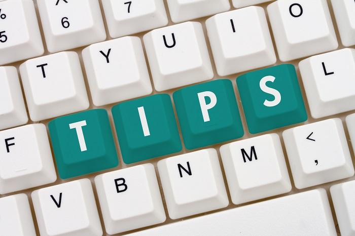 Toetsenbord met in groene letters 'tips'